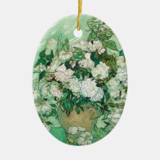 Ornamento De Cerâmica Rosas de Vincent van Gogh
