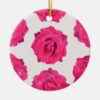 Ornamento De Cerâmica rosas frescos