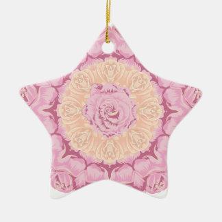 Ornamento De Cerâmica Rosas Ornament2 do vintage