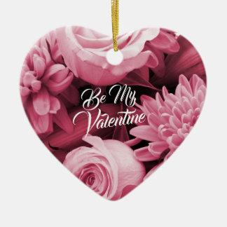 Ornamento De Cerâmica Rosas românticos do rosa da antiguidade do dia dos