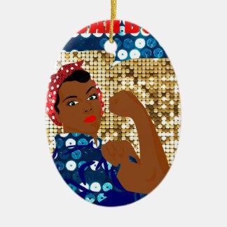 Ornamento De Cerâmica rosie africano o rebitador