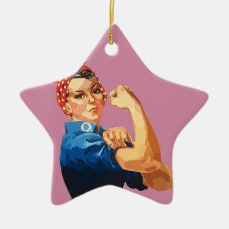 Ornamento De Cerâmica Rosie clássico feito sob encomenda o rebitador