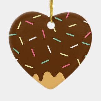 Ornamento De Cerâmica Rosquinha do chocolate