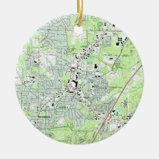 Ornamento De Cerâmica Roswell Geórgia Mapa (1992)