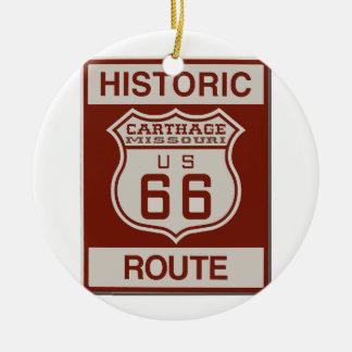 Ornamento De Cerâmica Rota 66 de Carthage