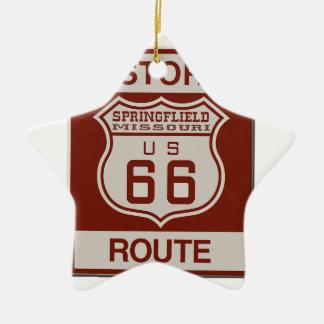 Ornamento De Cerâmica Rota 66 de Springfield