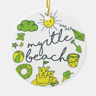 Ornamento De Cerâmica Roteiro de Myrtle Beach