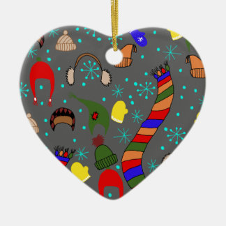 Ornamento De Cerâmica Roupa do inverno