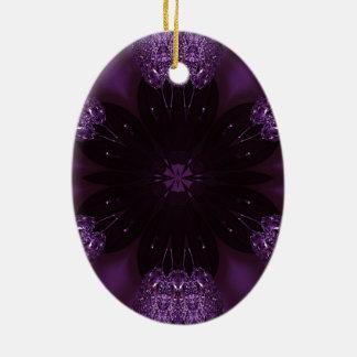 Ornamento De Cerâmica Roxo brilhante elegante chique do design do
