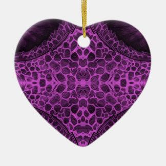 Ornamento De Cerâmica Roxo psicadélico
