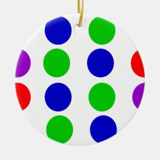 Ornamento De Cerâmica Roxo vermelho do verde azul do design do círculo