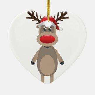 Ornamento De Cerâmica Rudolf o design bonito do Natal da rena