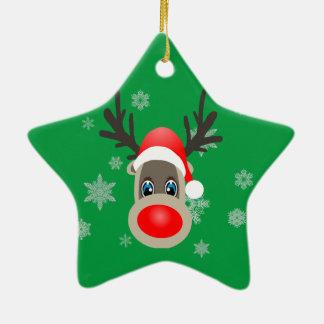 Ornamento De Cerâmica Rudolf - rena do Natal
