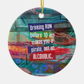 Ornamento De Cerâmica Rum do bebendo antes que 10 am lhe fizerem um