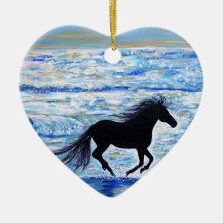 Ornamento De Cerâmica Running livre pelo mar 2