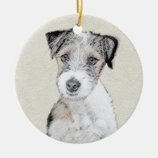 Ornamento De Cerâmica Russell Terrier (áspero)