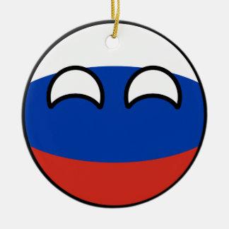 Ornamento De Cerâmica Rússia Geeky de tensão engraçada Countryball