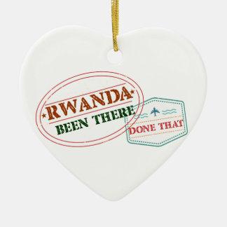 Ornamento De Cerâmica Rwanda feito lá isso