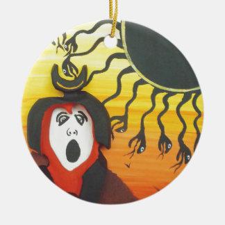 Ornamento De Cerâmica Sacrifício ao deus de cobra solar