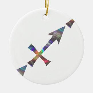 Ornamento De Cerâmica Sagitário do holograma