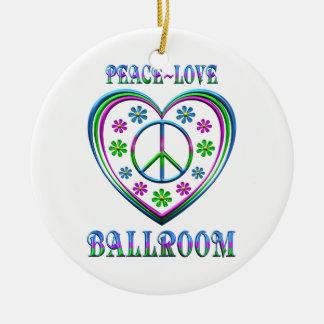 Ornamento De Cerâmica Salão de baile do amor da paz