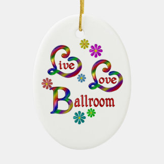 Ornamento De Cerâmica Salão de baile vivo do amor