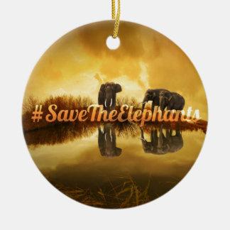 Ornamento De Cerâmica Salvar o design dos elefantes