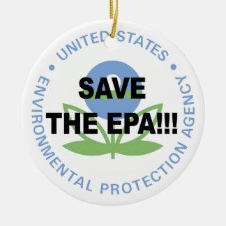 Ornamento De Cerâmica Salvar o EPA