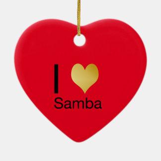 Ornamento De Cerâmica Samba Playfully elegante do coração de I