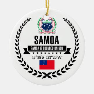 Ornamento De Cerâmica Samoa