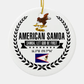 Ornamento De Cerâmica Samoa Americanas