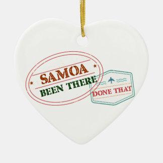 Ornamento De Cerâmica Samoa feito lá isso