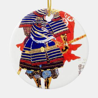Ornamento De Cerâmica Samurai - 歌川国芳 de Utagawa Kuniyoshi