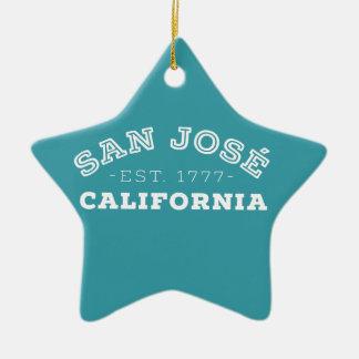 Ornamento De Cerâmica San Jose Califórnia
