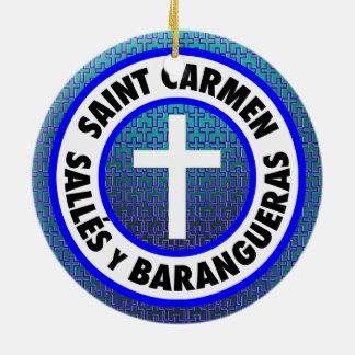 Ornamento De Cerâmica Santo Carmen Sallés y Barangueras