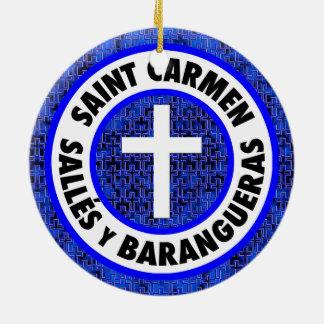 Ornamento De Cerâmica Santo Carmen Salles y Barangueras