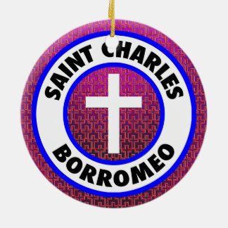 Ornamento De Cerâmica Santo Charles Borromeo