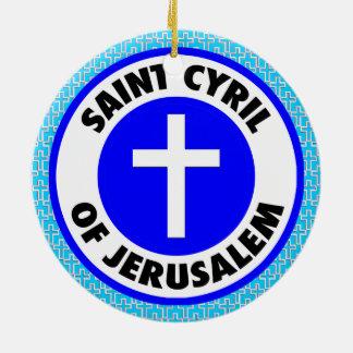 Ornamento De Cerâmica Santo Cyril de Jerusalem