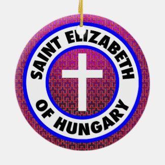 Ornamento De Cerâmica Santo Elizabeth de Hungria