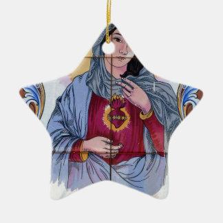 Ornamento De Cerâmica Santo Maria na igreja Católica