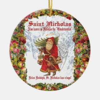 Ornamento De Cerâmica Santo Nicholas do Natal 4 o Wonderworker