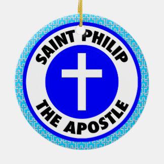Ornamento De Cerâmica Santo Philip o apóstolo
