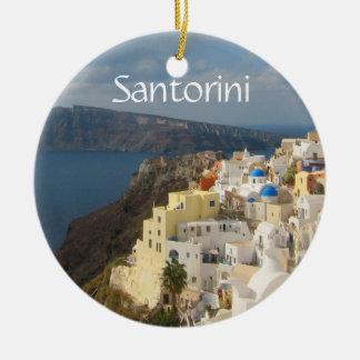 Ornamento De Cerâmica Santorini na tarde Sun