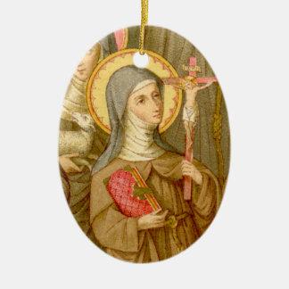 Ornamento De Cerâmica santos 2for1:  Dois santos pobres de Clare (SAU