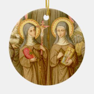 Ornamento De Cerâmica Santos pobres de Clare da imagem dobro dois (SAU
