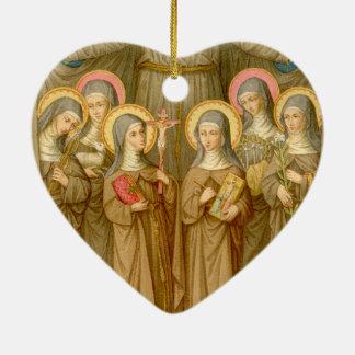 Ornamento De Cerâmica Santos pobres de Clare do dobro seis (SAU 027)