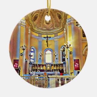 Ornamento De Cerâmica Santuário artístico velho bonito de San Juan