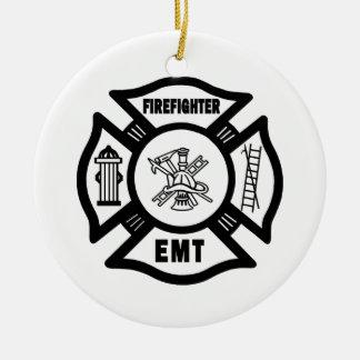 Ornamento De Cerâmica Sapador-bombeiro EMT