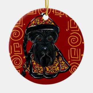 Ornamento De Cerâmica Scottish preto Terrier - ano do cão