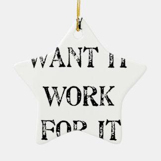Ornamento De Cerâmica se você o quer trabalhar para ele
